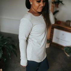 Little & Lively - Women's Long Sleeve Henley Shirt | Ash – The Kindred Studio Women's Henley, Henley Shirts, Kids Overalls, Rompers For Kids, Cotton Leggings, Long Sleeve Henley, Pajamas Women, Dresses For Sale, T Shirts For Women