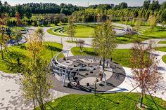Urban Landscape, Landscape Design, Experience Center, Outdoor Games, Landscape Architecture, Land Scape, Playground, Parks, Golf Courses