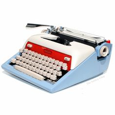 """theantikeychop: """" Royal Futura typewriter, ca,1958. Sick, right!? See it here… """""""