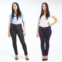 Ginger Jeans // highwaisted skinny jeans PDF sewing pattern view B: dark stretch denim Modern Sewing Patterns, Clothing Patterns, Pattern Sewing, Jodhpur, Patterned Jeans, Low Rise Jeans, High Jeans, Dress Making Patterns, Legging