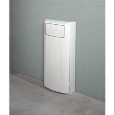 Wall Mount Trash Can Slim Garbage Gallon Beige With Swing Lid