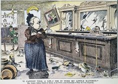 Carrie Nation newspaper comic