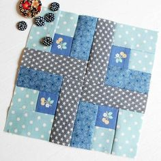 100 Modern Quilt Blocks - Block One. This is the first block from Tula Pink's City Sampler Quilts book.