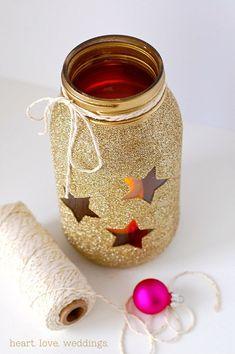 Trendy Ideas For Baby Shower Twinkle Twinkle Little Star Mason Jars Gold Diy, Mason Jar Centerpieces, Wedding Centerpieces, Centerpiece Ideas, Diy Décoration, Diy Crafts, Gold Glitter Mason Jar, Starry Night Prom, Star Baby Showers
