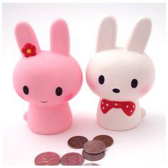 Lovely Rabbit Coin Bank