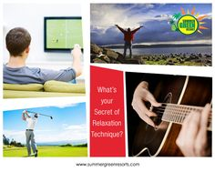 What is your secret ‪#‎relaxation‬ technique? TV. Appreciating Nature. Games. Unplugged ‪#‎Music‬ !