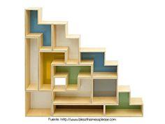 Diseño tipo Tetris. Para los gamers de antaño.