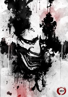 Hannya+Ink...+by+187designz.deviantart.com+on+@DeviantArt