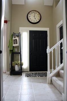 Love the huge clock over the front door
