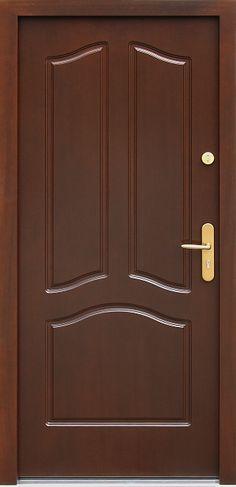 Drewniane wejściowe drzwi zewnętrzne do domu z katalogu modeli klasycznych wzór 501,2