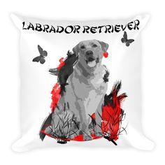 Labrador Retriever Chinese Painting - Square Pillow