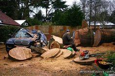 BMW X-Series X6 crashed in Chorelywood