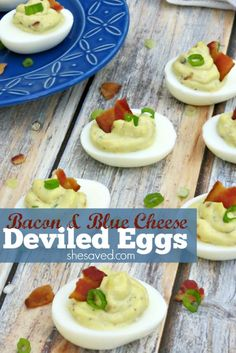 for a new twist on Deviled Eggs? This Bacon & Blue Cheese Deviled Eggs ...