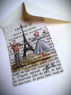 Paris postcards Sale  Paris 1955  Marcel et by CastleOnTheHill, $4.00