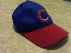 Chicago Cubs Hat Red Bill One Size Fits All Cubs Apparel | eBay