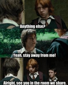 If you can't actually go to Hogwarts, these hilarious Harry Potter memes may have to suffice as the next best thing. Harry Potter Hermione, Harry Potter World, Harry Potter Puns, Harry Potter Universal, All Harry Potter Characters, Harry Potter Couples, Ron Weasley, Hogwarts, Memes Humor