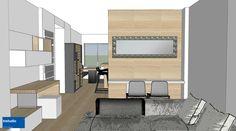 In questo progetto abbiamo scelto uno schema colori bianco-rovere-antracite che viene riproposto in tutte le stanze per un risultato fresco e contemporaneo.