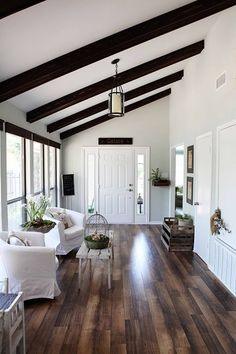 Living With Kids: Joanna Gaines. So gorgeous! Love the white and dark woods together