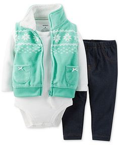Carter's Baby Girls' 3-Piece Vest, Bodysuit & Pants Set - Kids Baby Girl (0-24 months) - Macy's