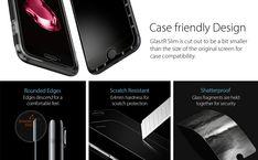 Spigen, 2 Pack, iPhone 8 / 7 Screen Protector, Easy: Amazon.co.uk: Electronics