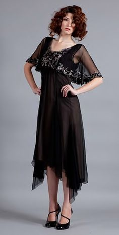 VT - 115 Black/Coco Shaded Rose Gown _ Nataya - wedding dresses vintage dresses romantic dresses