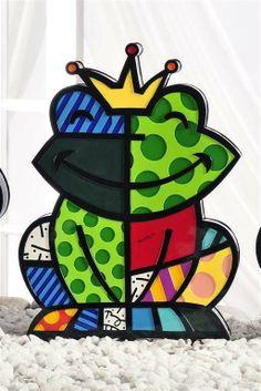 Even a Frog looks good in Britto Graffiti Painting, Graffiti Art, Paper Architecture, Zombie Art, Ceramic Teapots, Pin Up Art, Art Plastique, Famous Artists, Artist Art