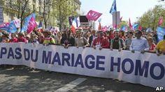 França é palco de protestos homofóbicos contra casamento gay - Jornal Manchete Digital Notícias
