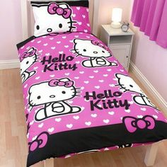 Girls Hello Kitty Quilt/Duvet Cover Bedding Set (twin bed) (Pink/White) by Hello Kitty, http://www.amazon.com/dp/B009FKA2OU/ref=cm_sw_r_pi_dp_XSJPqb1WJGGP4