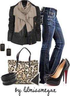 """When the lights go out in the city..."" by lilmissmegan on Polyvore"