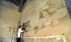 Restorers were working on the Sforza Castle when they discovered a lost Da Vinci mural under almost 20 layers of whitewash. Below all that paint was a massive mural depicting trees that grew from the walls up onto the ceiling, where they formed a pergola of branches. Now, the painting is being carefully restored to its former glory—you can follow the progress here.