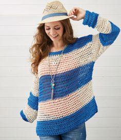 Crochet pattern stripy crochet jumper pattern
