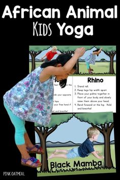 African Animal Themed Yoga – With Real Kids The best activity for a unit on continents. Perfect to use for Africa and African activities. A great way to get physical activity and brain breaks into learning! Awesome for kids yoga! Africa Activities For Kids, Multicultural Activities, Animal Activities For Kids, Gross Motor Activities, Physical Activities, Preschool Age, Preschool Activities, Preschool Jungle, Africa Fashion