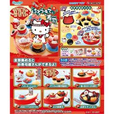 Re-ment Sanrio Hello Kitty Rotation Sushi Restaurant