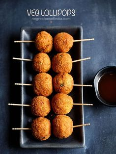veg lollipop recipe - crispy fried balls made with mix vegetable filling. these vegetable lollipops make for a great vegetarian appetizer or a starter snack.