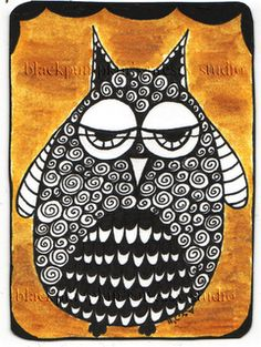 Timeless Rituals: Curly Hair & Owls ACEOs on Sale on Etsy & ATCs for Trade on Flickr