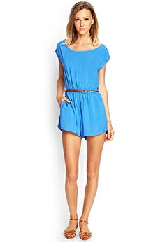 Belted Woven Romper