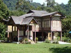 Traditional Malay house Balik Pulau, south west Penang