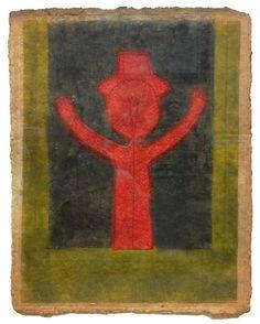 """Nino con Sombrero"" paper mixograph by Rufino Tamayo, 1980"