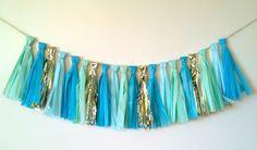 Tissue Paper Tassel Garland (DIYing for cake/cupcake table!)