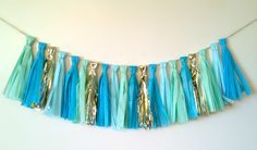 Tissue Paper Tassel Garland (DIYing for cake/cupcake table!)