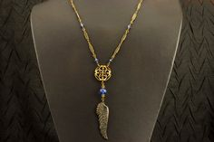 Vintage Style Necklace Patina'd Wing Vintage by HutaPearlJewelry, $48.00