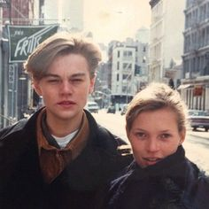 Kate Moss and Leonardo DiCaprio, both 19 years old. Photographed by Larry Clark, outside his exhibition in SoHo, New York ISSUE # 1 YOUNG GIRL (page Larry Clark, Ali Michael, Pretty People, Beautiful People, Amazing People, 1990 Style, Leo And Kate, Young Leonardo Dicaprio, Street Style Outfits