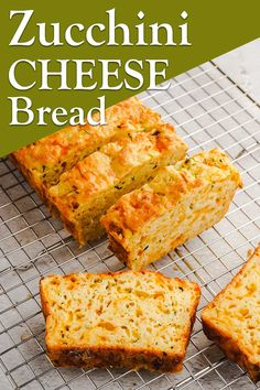 Savory Zucchini Bread, Zuchinni Bread, Zucchini Cheese, Zucchini Bread Recipes, Vegan Recipes Easy, Cooking Recipes, Free Recipes, Keto Recipes, Good Food