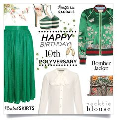 """""""Celebrate Our 10th Polyversary!"""" by kiki-bi ❤ liked on Polyvore featuring Gucci, polyversary and contestentry"""