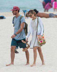 1/5/16.   Pierre Casiraghi and Beatrice Borromeo at the Bondi beach in Sydney