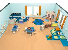 Gruppenraum A - Gruppenräume - Raumkonzepte - Kinder unter 3 - Wehrfritz GmbH kinder Church Nursery, Nursery Room, Baby Room, Early Childhood Centre, Kindergarten Design, Infant Classroom, Activity Room, Parents Room, Montessori Toys
