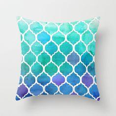 Emerald+&+Blue+Marrakech+Meander+Throw+Pillow+by+Micklyn+-+$20.00