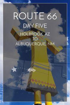 5/14 days of Route 66. Holbrook, AZ to Albuquerque, NM #route66 #roadtrip | maddily