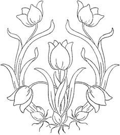 Image result for art nouveau embroidery pattern white