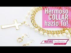 Como hacer collar cadena perlas cream con Caro Jaramillo Kit 23155 - YouTube